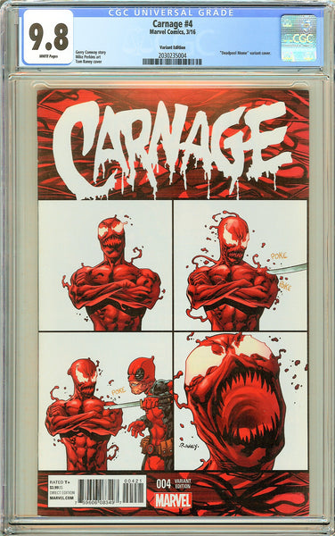 Carnage #4 CGC 9.8 White Pages 2030235004 Variant Edition