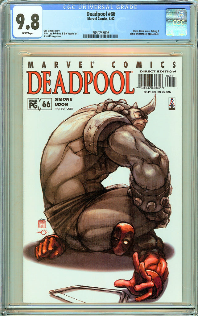 Deadpool #66 CGC 9.8 White Pages (2002) 2030235006