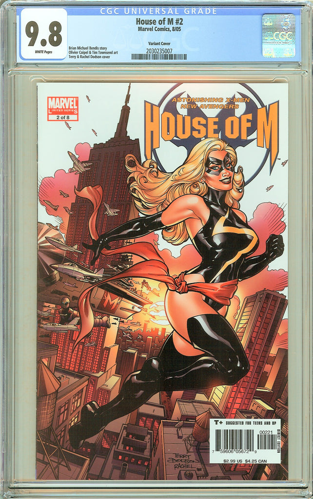 House of M #2 CGC 9.8 White Pages 2030235007 Variant Cover