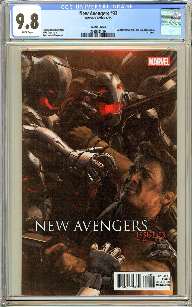 New Avengers #33 CGC 9.8 White Pages (2015) 2030235008 Variant Edition