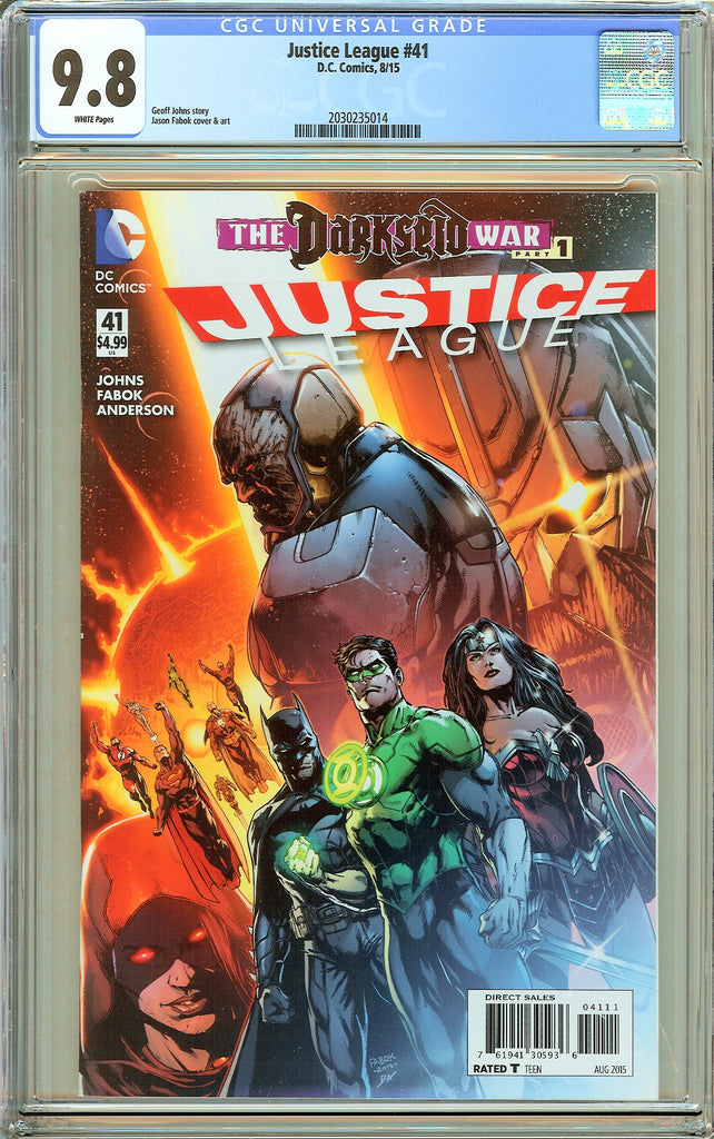Justice League #41 CGC 9.8 White Pages (2015) 2030235014