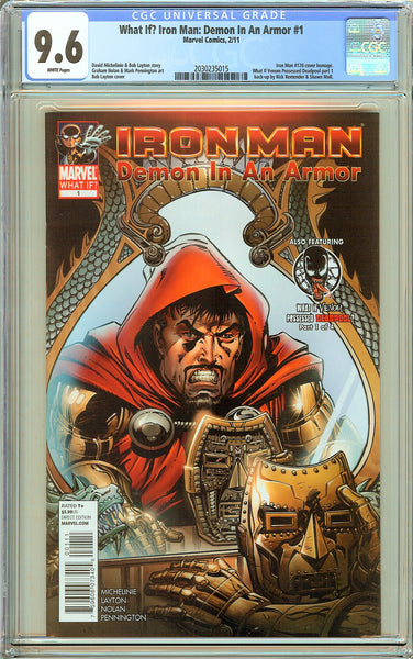 What If? Iron Man: Demon In An Armor #1 CGC 9.6 White Pages 2030235015