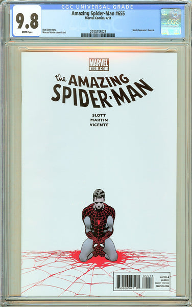 Amazing Spider-Man #655 CGC 9.8 White Pages 2030235023