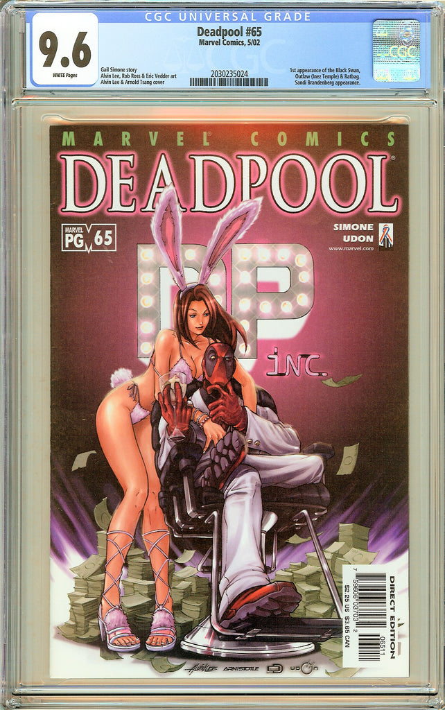 Deadpool #65 CGC 9.6 White Pages (2002) 2030235024