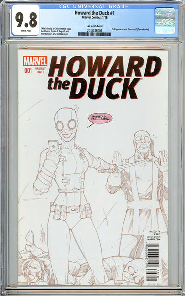Howard the Duck #1 CGC 9.8 White Pages 2030236001 Lim Sketch Cover