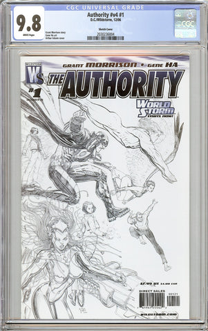 Authority #v4 #1 CGC 9.8 White Pages (2006) 2030236004 Sketch Cover