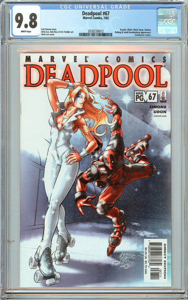 Deadpool #67 CGC 9.8 White Pages (2002) 2030236012