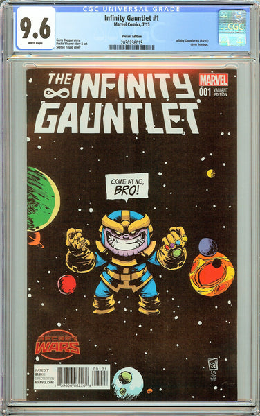Infinity Gauntlet #1 CGC 9.6 White Pages 2030236013 Variant Edition