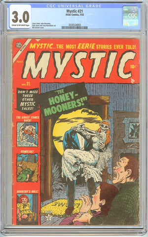 Mystic #21 CGC 3.0 CT Off-White Pages (1953) 2030524003