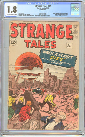 Strange Tales #97 CGC 1.8 Off-White to White Pages (1962) 2030524004