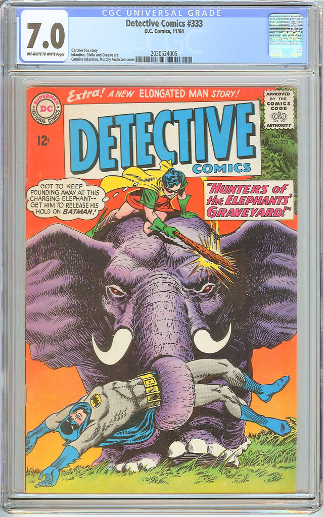 Detective Comics # 333 CGC 7.0 OW to White Pages (1964) 2030524005