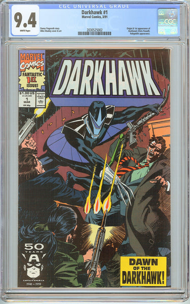 Darkhawk #1 CGC 9.4 White Pages (1991) 2030525002