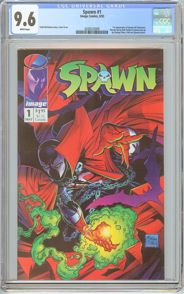 Spawn #1 CGC 9.6 White Pages (1992) 2030525005