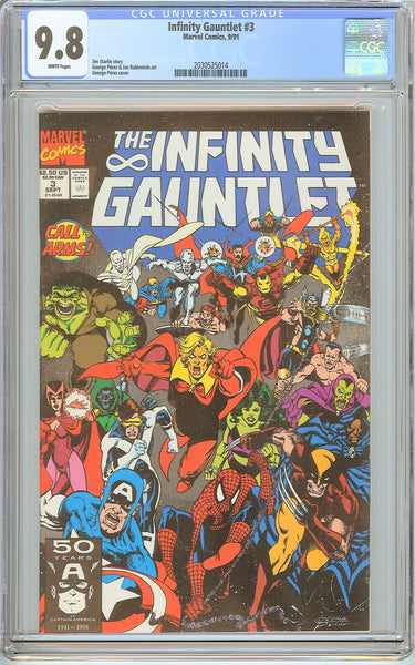 Infinity Gauntlet #3 CGC 9.8 White Pages (1991) 2030525014