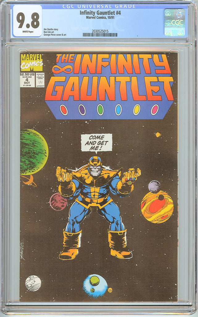 Infinity Gauntlet #4 CGC 9.8 White Pages (1991) 2030525015