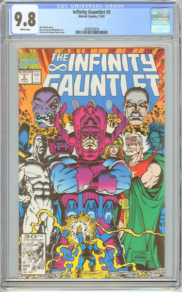 Infinity Gauntlet #5 CGC 9.8 White Pages (1991) 2030525016