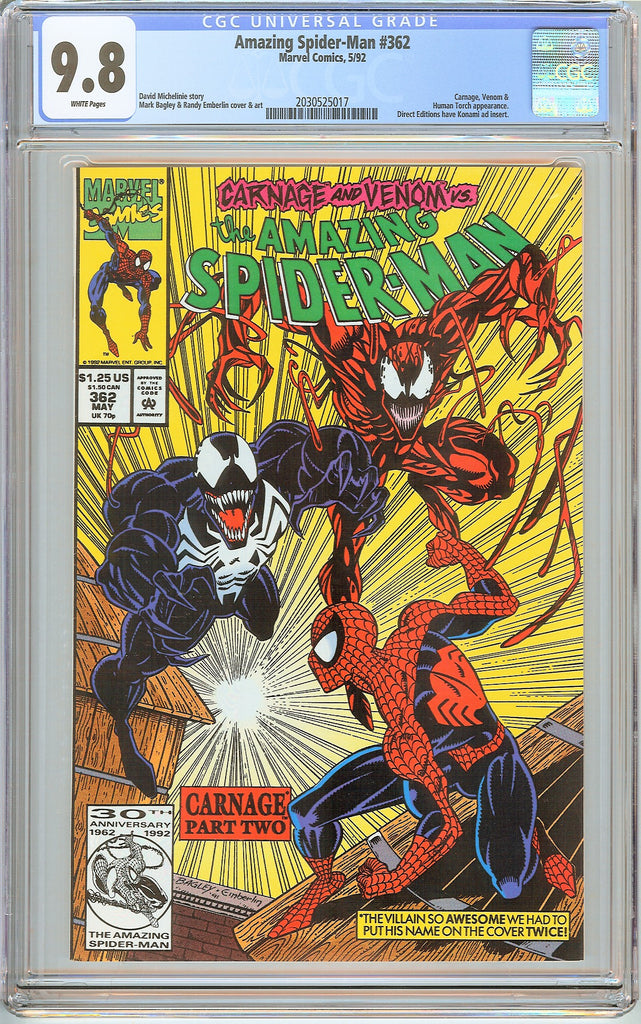 Amazing Spider-Man #362 CGC 9.8 White Pages (1992) 2030525017