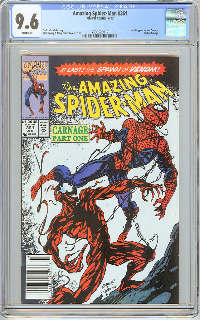 Amazing Spider-Man #361 CGC 9.6 White Pages (1992) 2030525019