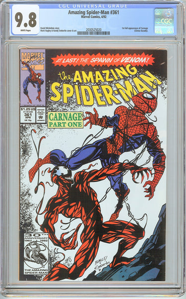 Amazing Spider-Man #361 CGC 9.8 White Pages (1992) 2030525020