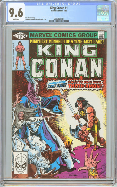 King Conan #1 CGC 9.6 White Pages (1980) 2030525021