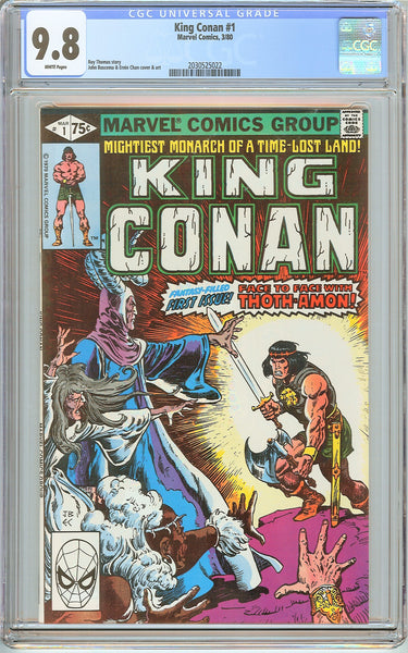 King Conan #1 CGC 9.8 White Pages (1980) 2030525022