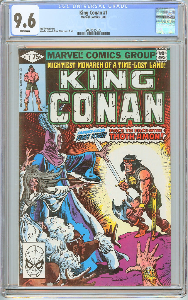 King Conan #1 CGC 9.6 White Pages (1980) 2030525023