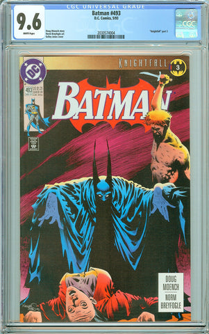 Batman # 493 CGC 9.6 White Pages (1993) 2030574004