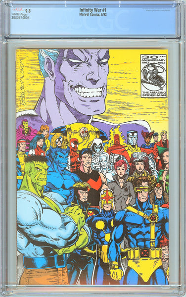 Infinity War #1 CGC 9.8 White Pages (1992) 2030574005