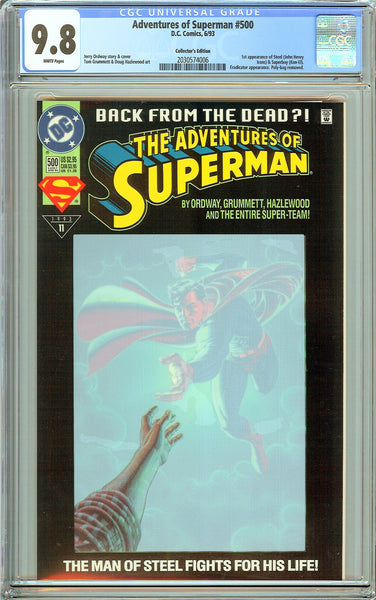Adventures of Superman #500 CGC 9.8 White Pages 2030574006 Collectors Edition