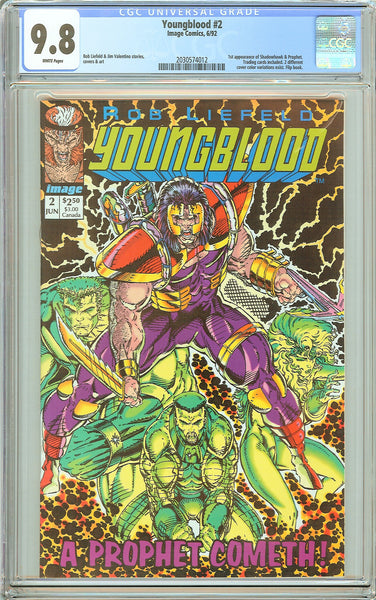 Youngblood #2 CGC 9.8 White Pages (1992) 2030574012