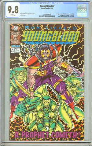 Youngblood #2 CGC 9.8 White Pages (1992) 2030574013