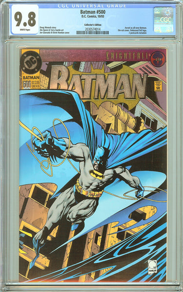 Batman # 500 CGC 9.8 White Pages (1993) 2030574014