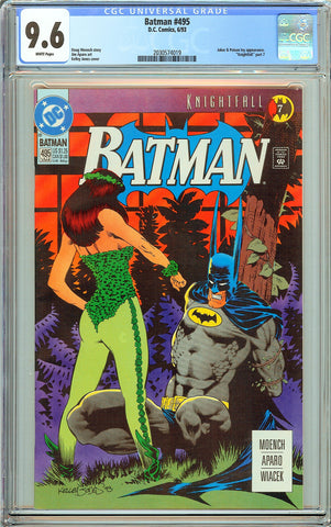 Batman # 495 CGC 9.6 White Pages (1993) 2030574019
