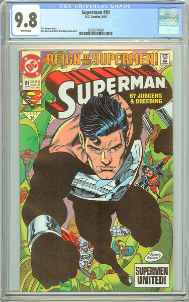 Superman #81 CGC 9.8 White Pages (1993) 2030574020