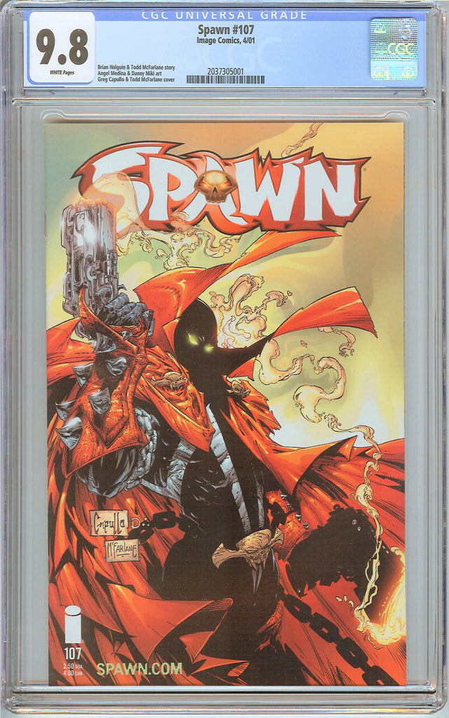 Spawn #107 CGC 9.8 White Pages 2037305001