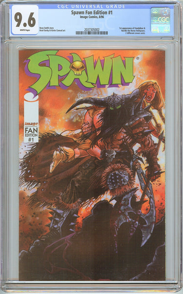 Spawn Fan Edition #1 CGC 9.6 White Pages (1996) 2037305002