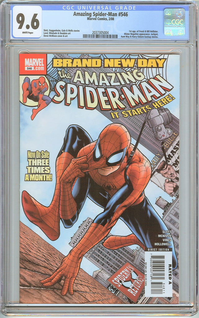 Amazing Spider-Man #546 CGC 9.6 White Pages 2037305004