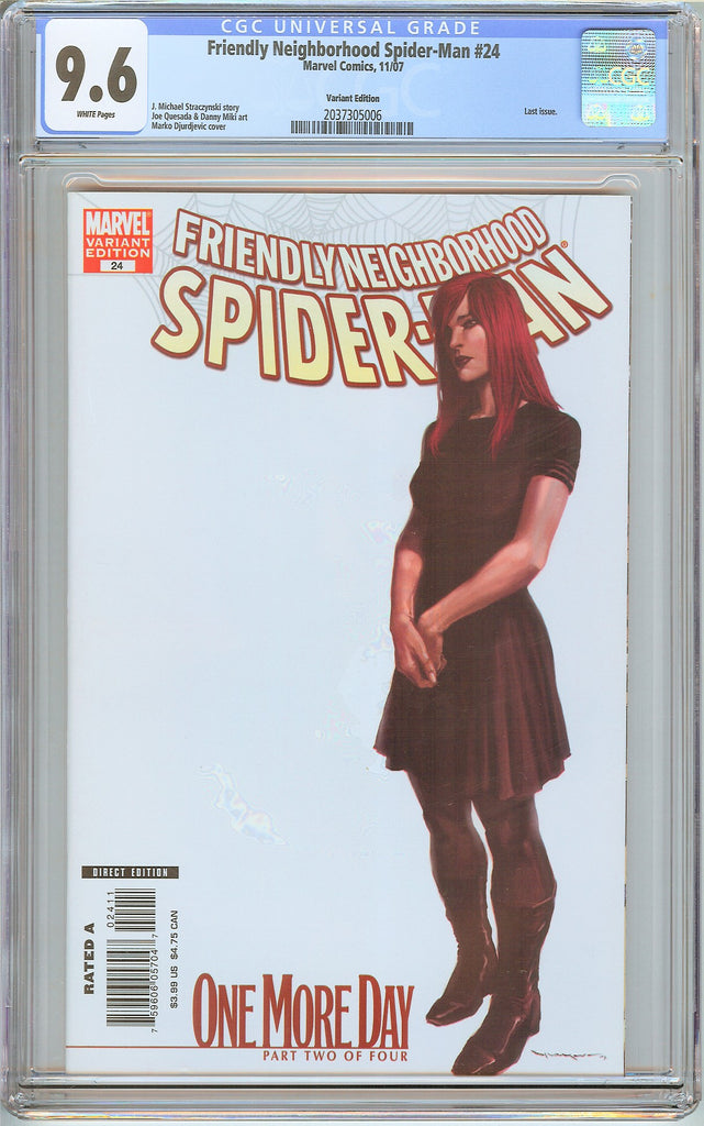 Friendly Neighborhood Spider-Man #24 CGC 9.6 White Pages 2037305006 Variant