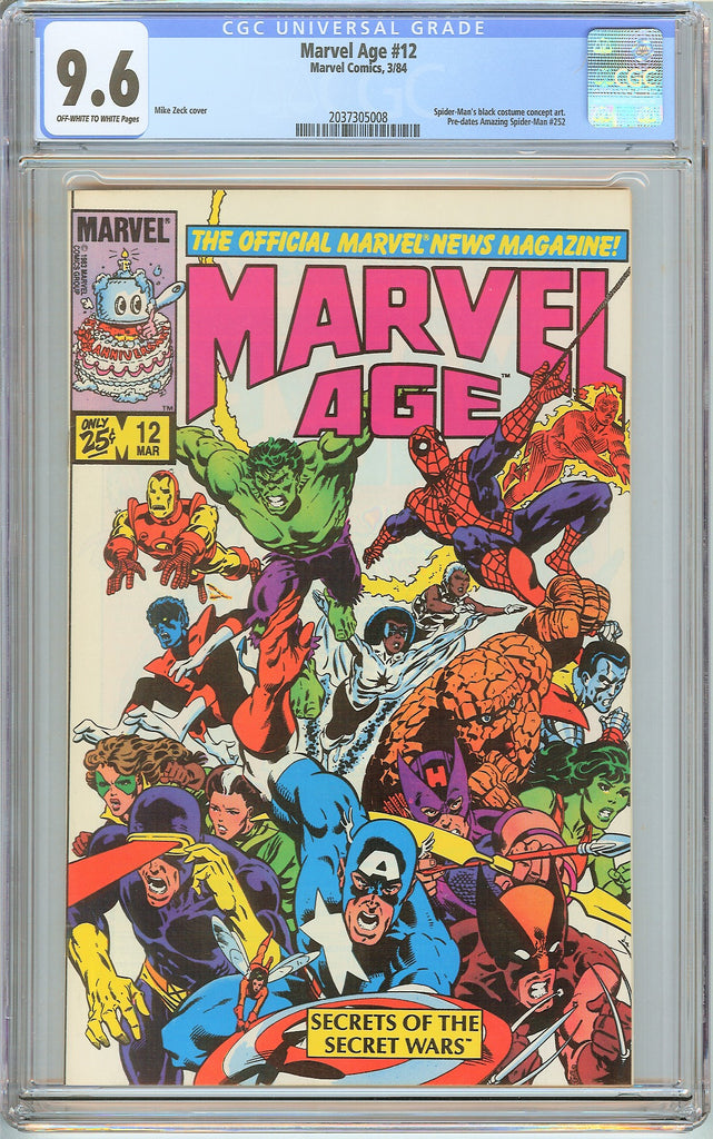Marvel Age #12 CGC 9.6 OW to White Pages (1984) 2037305008