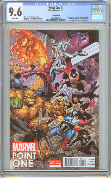 Point One #1 CGC 9.6 White Pages (2012) 2037305010 Variant Edition