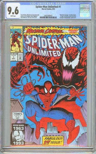 Spider-Man Unlimited #1 CGC 9.6 White Pages 2037305013 1st app. of Shriek