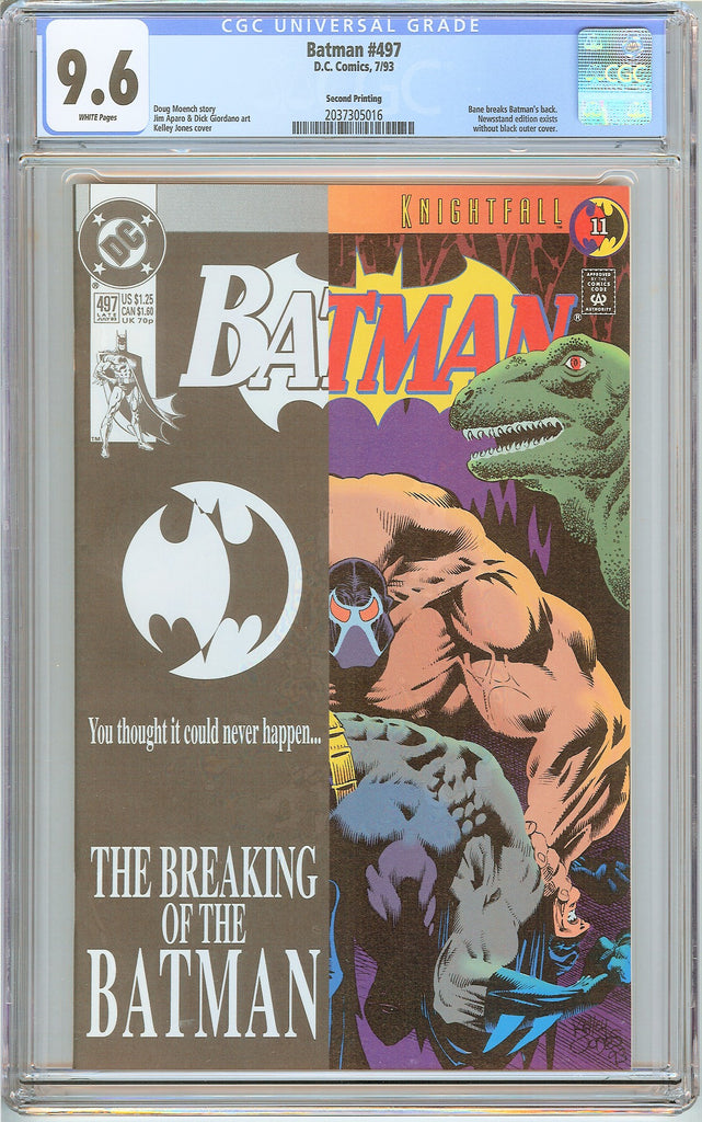 Batman # 497 CGC 9.6 White Pages (1993) 2037305016 Second Printing