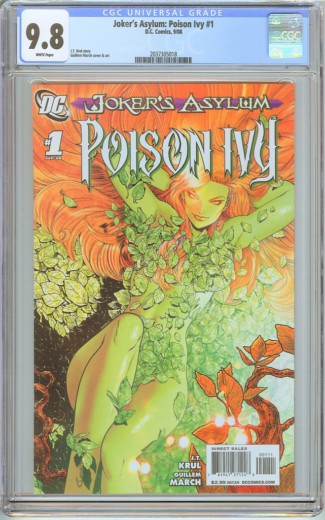 Joker's Asylum Poison Ivy #1 CGC 9.8 White Pages (2008) 2037305018