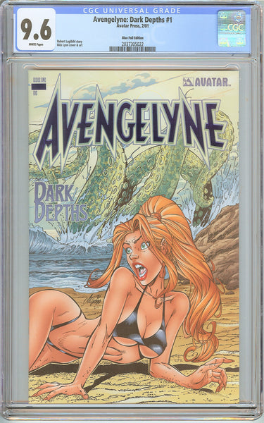 Avengelyne Dark Depths #1 CGC 9.6 White Pages 2037305022 Only 100 made !