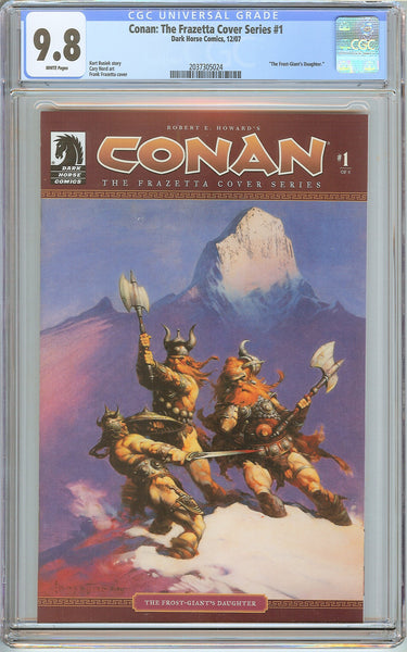 Conan Frazetta Cover Series #1 CGC 9.8 White Pages (2007) 2037305024
