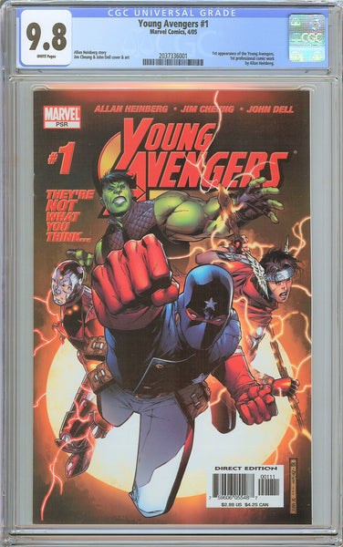 Young Avengers #1 CGC 9.8 White Pages (2005) 2037336001