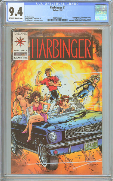 Harbinger #1 CGC 9.4 OW to White Pages (1992) 2037336002