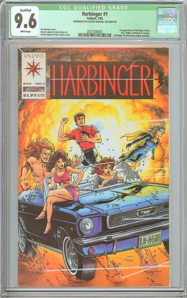Harbinger #1 CGC Qualified 9.6 White Pages (1992) 2037336003 No Coupon