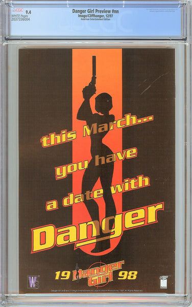Danger Girl Preview CGC 9.4 White Pages 2037336004 American Entertainment Editio