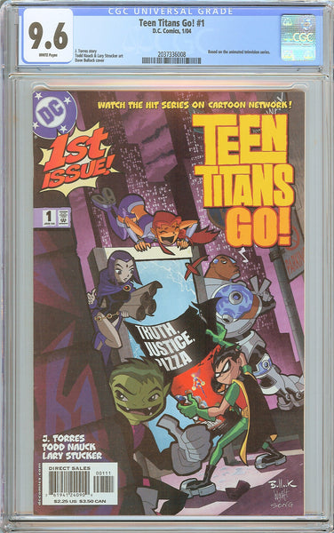 Teen Titans Go! #1 CGC 9.6 White Pages (2004) 2037336008